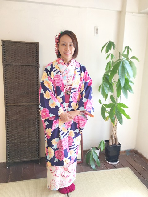 Fukuoka Kimono Dress Up 20180213_kd